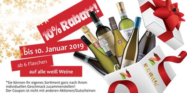 ab 19. November … 10% Rabatt auf alle Weißweine