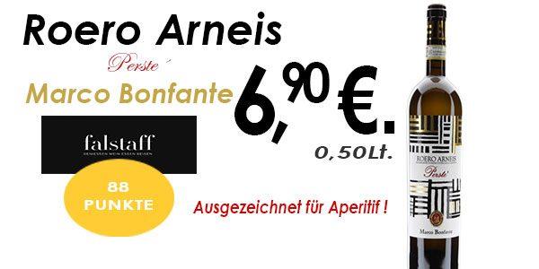 Ausgezeichnet für Aperitif ! Roero Arneis Perste´